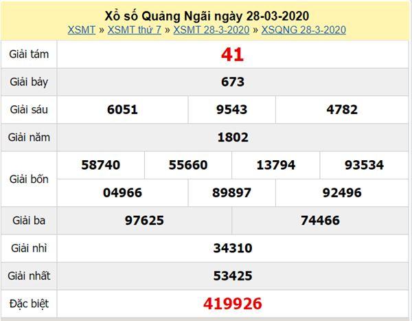Soi cầu XSQNG 25/4/2020 - KQXS Quảng Ngãi thứ 7