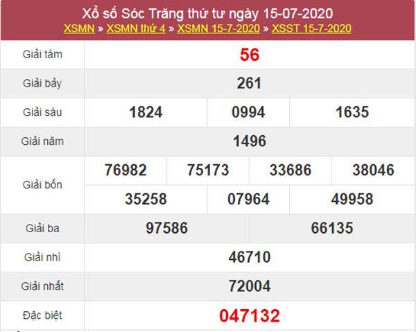 Soi cầu XSST 22/7/2020 chốt lô số đẹp Sóc Trăng thứ 4