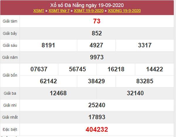 Thống kê XSDNG 23/9/2020 chốt lô VIP Đà Nẵng thứ 4
