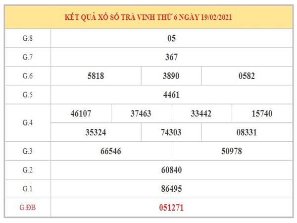 Soi cầu XSTV ngày 26/2/2021 dựa trên kết quả kỳ trước